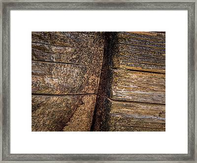 Wooden Wall Framed Print