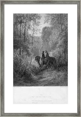 Woodland Lovers Framed Print by Hulton Archive