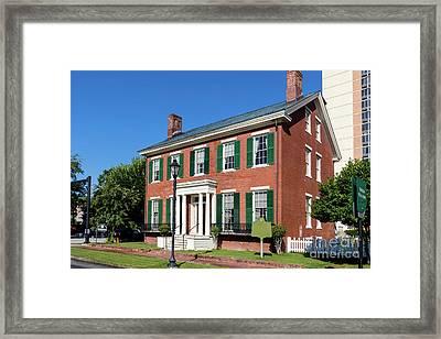 Woodrow Wilson Boyhood Home - Augusta Ga 3 Framed Print