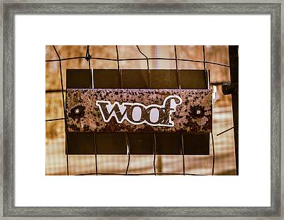 Woof Framed Print