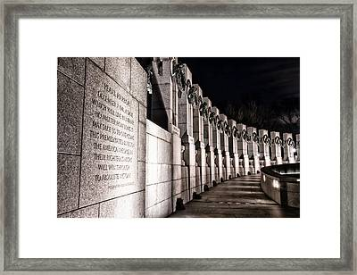 World War II Memorial Framed Print