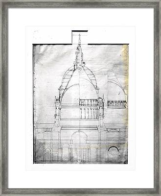 Wrens Plan Of St Pauls Framed Print by Topical Press Agency