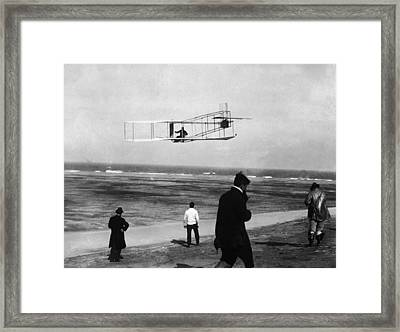 Wright Sets Gliding Record Framed Print by Percy T. Jones