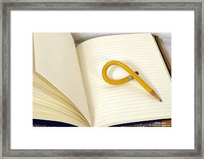 Writers Block Framed Print