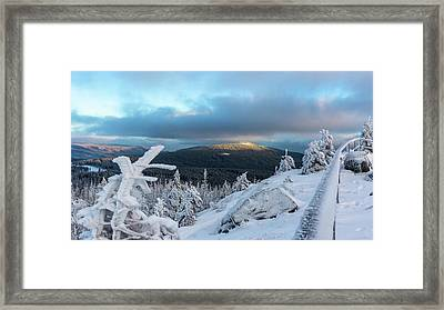 Framed Print featuring the photograph Wurmbergblick, Harz by Andreas Levi