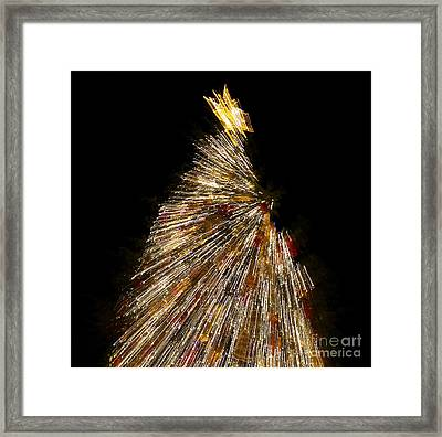 Xmas Tree Motion Art Framed Print