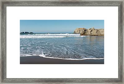 Framed Print featuring the photograph Yachats Oregon Beach Wave 101818 by Rospotte Photography