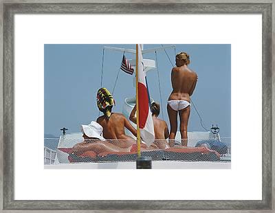 Yacht Holiday Framed Print