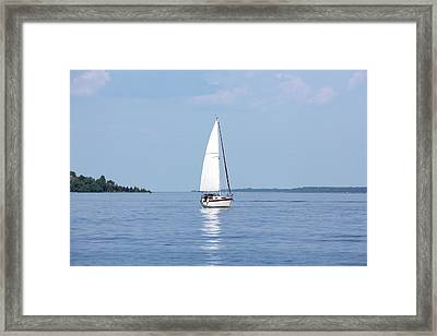 Yachting Framed Print by Chrisboy2004