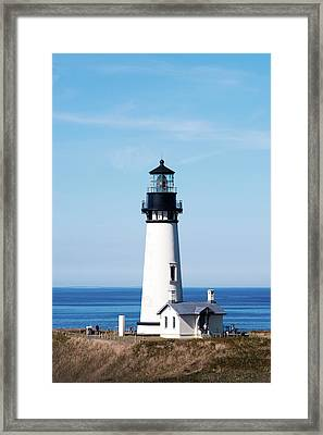 Framed Print featuring the photograph Yaquina Head Lighthouse 101618 by Rospotte Photography
