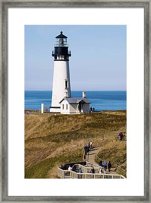 Framed Print featuring the photograph Yaquina Head Lighthouse 102518 by Rospotte Photography
