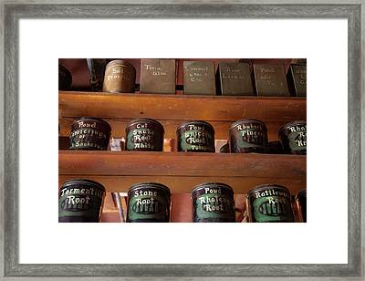 Ye Olde Time Pharmaceuticals Framed Print