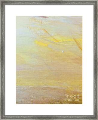 Framed Print featuring the painting Yellow #2 by Maria Langgle