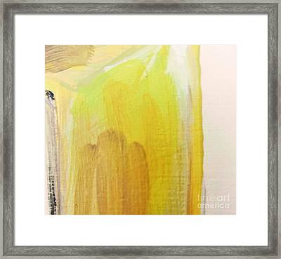 Framed Print featuring the painting Yellow #3 by Maria Langgle