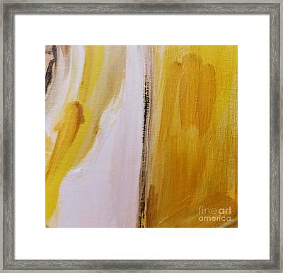 Framed Print featuring the painting Yellow #5 by Maria Langgle