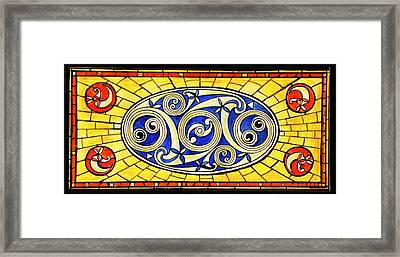 Yellow Brick World Framed Print