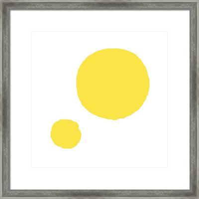 Yellow Dots Framed Print