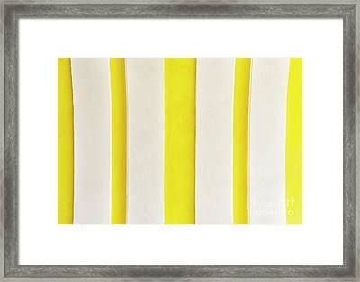 Framed Print featuring the photograph Yellow Stripes Background by Tim Hester