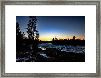 Framed Print featuring the photograph Yellowstone River by Pete Federico