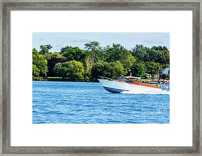 Yes Its A Chris Craft Framed Print