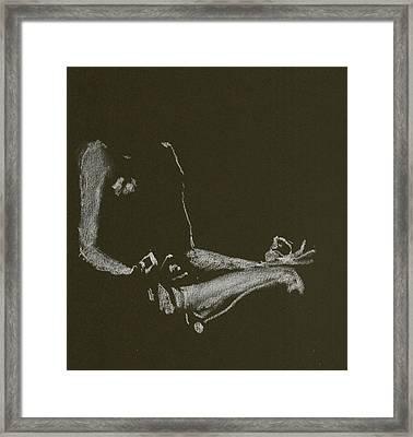 Yoga Position Framed Print