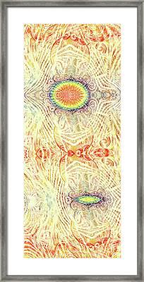 Yonic Rainbow Framed Print