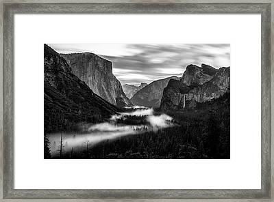 Framed Print featuring the photograph Yosemite Fog 1 by Stephen Holst