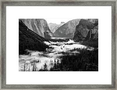 Framed Print featuring the photograph Yosemite Fog 2 by Stephen Holst