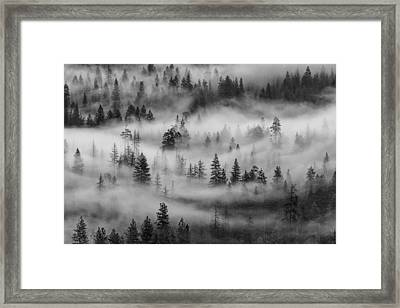 Framed Print featuring the photograph Yosemite Valley Fog by Rand
