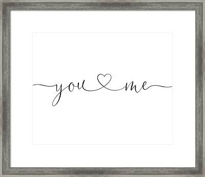 You And Me Black And White Framed Print