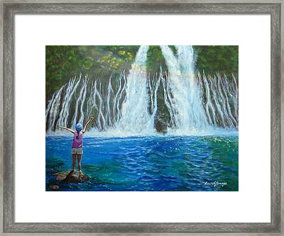 Framed Print featuring the painting Youthful Spirit by Amelie Simmons