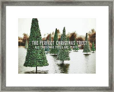 Yule Pool Quote Framed Print by JAMART Photography