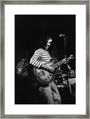 Zappa & The Mothers On Stage Framed Print by Fred W. McDarrah