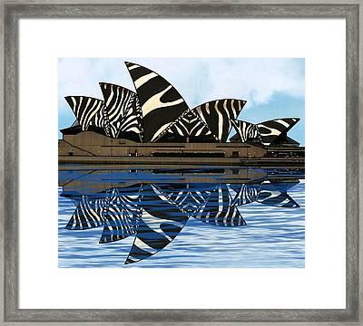 Zebra Opera House 4 Framed Print