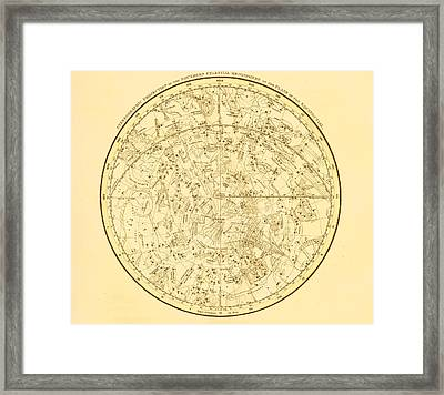 Zodiac Map Framed Print