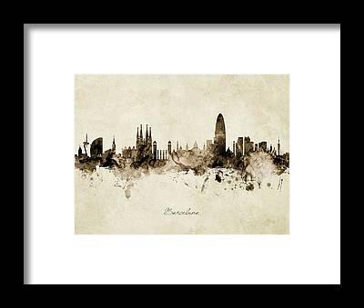 Designs Similar to Barcelona Spain Skyline