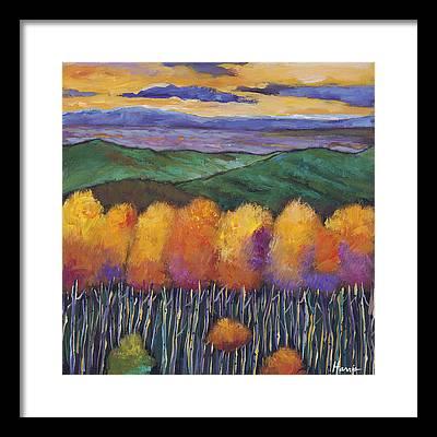 Autumn Landscape Framed Prints