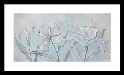Greenish Blue Framed Prints