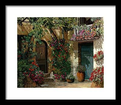Courtyard Framed Prints