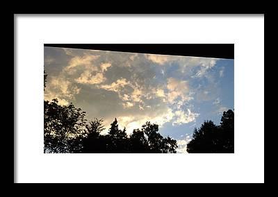 Blue Sky Framed Prints