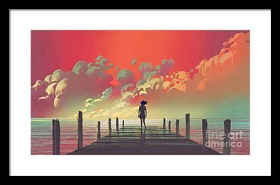 Walking Bridge Framed Prints