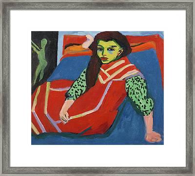 Ernst Ludwig Kirchner S\u00e4ngerin am Piano 1930  Framed Art Print