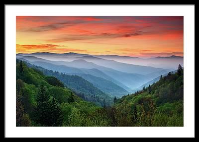 Western Mountains Framed Prints
