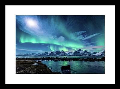 Aurora Borealis Framed Prints