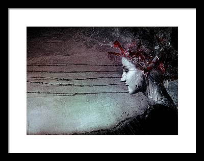 Barbwire Framed Prints