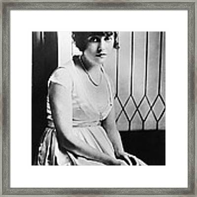 Actress Mabel Normand Framed Print