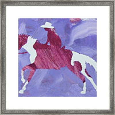 Barrel Racer Framed Print by Candace Shrope
