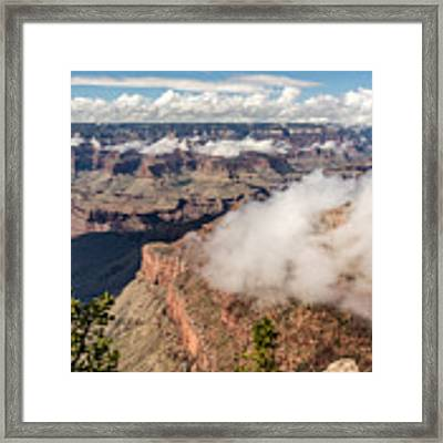 Clouds Lifting From Grand Canyon Framed Print by Claudia Abbott