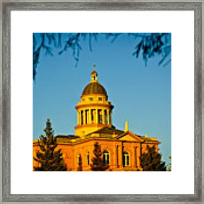 Historic Auburn Courthouse 14 Framed Print by Sherri Meyer