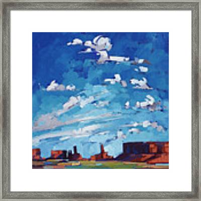 Monument Sky Framed Print